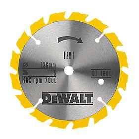 DeWalt DT1200-QZ TCT Circular Saw Blade 136 x 10mm 16T