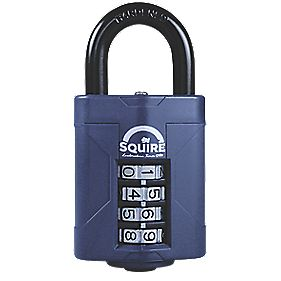 Squire All-Weather Combination Padlock Black 48mm
