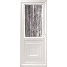 Double-Glazed uPVC Back Door Translucent Glass LH 840 x 2085mm