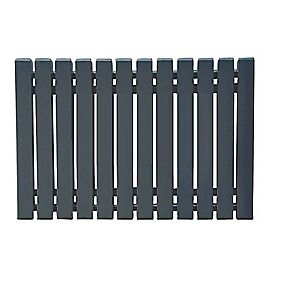 Erupto Square Horizontal Designer Radiator Anthracite 600 x 1185mm 4659BTU