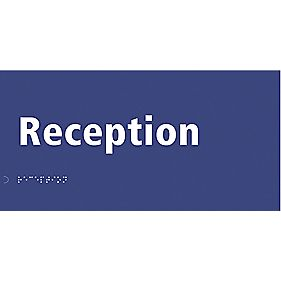 "Braille ""Reception"" Sign 150 x 300mm"