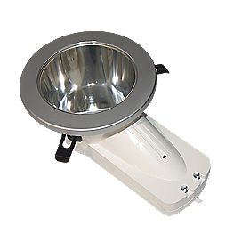 Atom ASD PL Fixed Round Mains Voltage Downlight Polished Chrome 240V