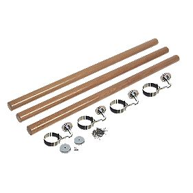 Richard Burbridge Round Staircase Handrail Kit White Oak 3.6m