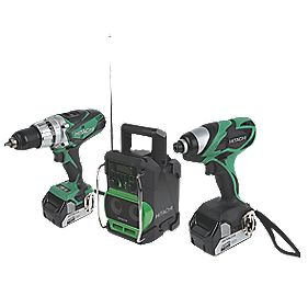 Hitachi KC18DKL/JA 18V 4.0Ah Li-Ion Cordless Triple Pack