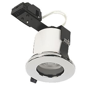 Linolite Sylvania Fixed Round Low Voltage Fire Rated Downlight Pol. Chr 12V