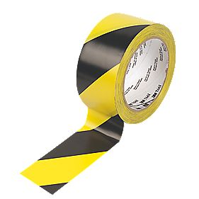 ttl Hazard Warning Tape Black & Yellow 50mm x 33m