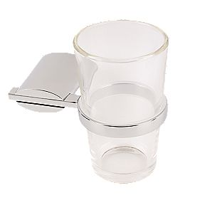 Swirl Ovali Bathroom Toothbrush Tumbler & Holder Chrome-Plated