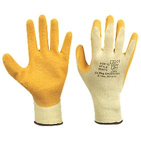 Superior Builders Gloves Yellow Large