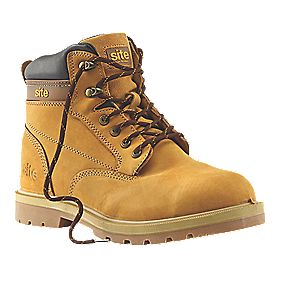 Site Rock Safety Boots Honey Size 9