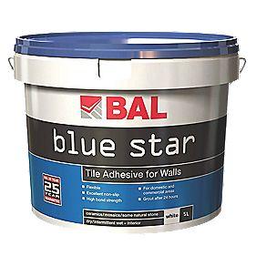 BAL Blue Star Non-Slip Tile Adhesive White 5Ltr