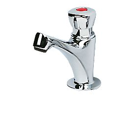 H&C Self-Closing Bathroom Basin Tap