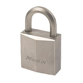 Master Lock Nickel Plated Brass Padlock 40mm