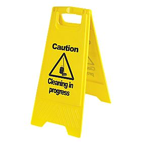 Caution Cleaning in Progress A-Frame Safety Sign 680 x 300mm