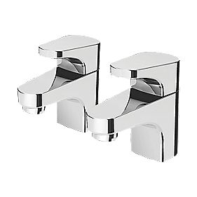 Bristan Curve Bath Taps Pair