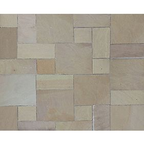 Natural Stone Whitchurch Raj Sandstone Patio Kit 11.52m²
