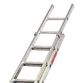 Lyte DIY Double Extension Domestic Ladder 9 Rungs Max. Height 4.39m