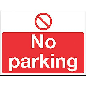 """No Parking"" Sign 400 x 300mm"