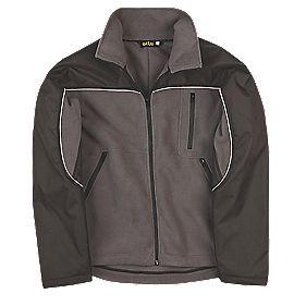 "Site Fleece Jacket Grey/Black Large 43"""
