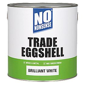 No Nonsense Trade Eggshell Trim Brilliant White 2.5Ltr