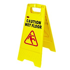 Caution Wet Floor A Frame Safety Sign
