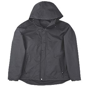 "Site Birch Funnel Neck Work Jacket Black Large 42-44"" Chest"