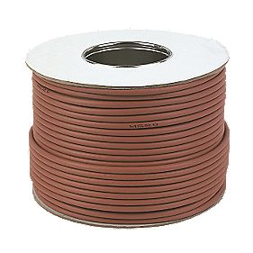 Labgear RG6 Satellite Coaxial Cable 100m Brown