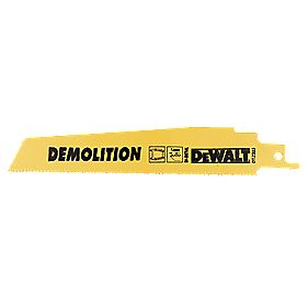 DeWalt DT2303 152mm 14Tpi Demolition Reciprocating Saw Blades Pack of 5
