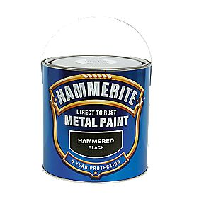 B and Q Hammered Metal Paint Black 2.5Ltr