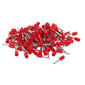 1.00mm², Insulated Cord End, Red - Pack 100