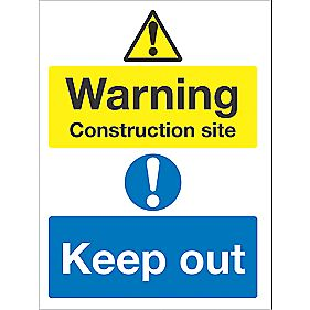 WARNING CONSTRUCTION SITE SIGN EACH