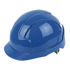 JSP EVO3 Printed Safety Helmets Blue Pack of 20