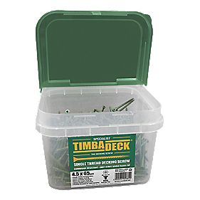 Timbadeck Countersunk Carbon Steel Decking Screws 4.5 x 65mm Pack of 500