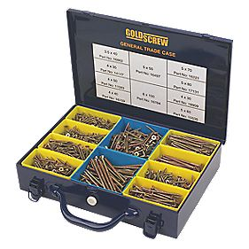 Goldscrew General Trade Case Double-Countersunk Pack of 1400