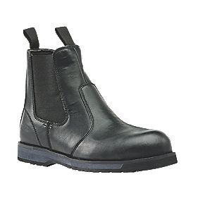 Site Topaz Chelsea Safety Boots Black Size 8