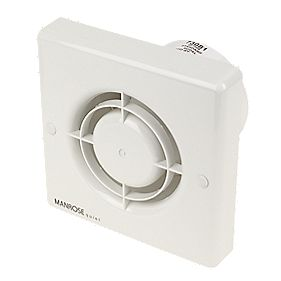 Manrose QF100S 5W Quiet Axial Bathroom Extractor Fan