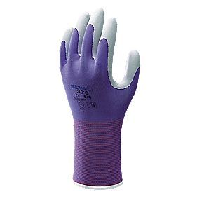 Showa Best 370 Floreo Landscaping & Gardening Nitrile Gloves Purple Small