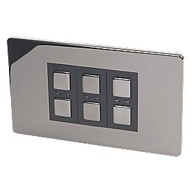 3-Gang 1-Way Dimmer Switch Black Nickel 210W