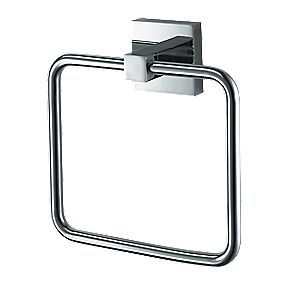 Aqualux Haceka Mezzo Bathroom Towel Ring Chrome