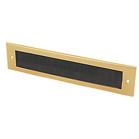 Select Brush Letter Plate Gold Effect 337 x 75mm