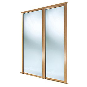 Spacepro 2 Door Framed Sliding Wardrobe Mirror Doors