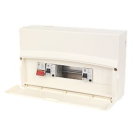 MK 17th Ed 10 Way Metal Spilt Load 80A & 63A RCD Consumer Unit