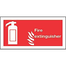 """Fire Extinguisher"" Signs 100 x 200mm Pack of 50"