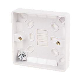 LAP 1-Gang Surface Pattress Box with Earth Terminal White 19mm