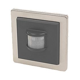 LightwaveRF Wall-Mounted Wireless PIR Stainless Steel
