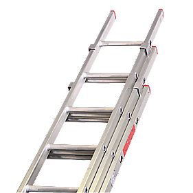 Lyte DIY Triple Extension Domestic Ladder 7 Rungs Max. Height 5m