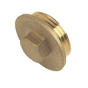 "Brass Flanged Plug 1"" Pack of 2"