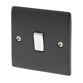 British General 1-Gang 2-Way 10AX Light Switch Matt Black