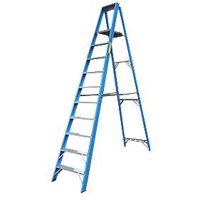 Lyte Heavy Duty Aluminium & Fibreglass Platform Ladder 10-Tread 2.9m