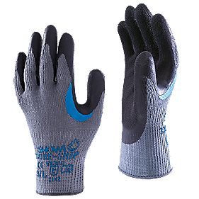 Showa Best 330 General Handling Reinforced Grip Gloves Grey Large