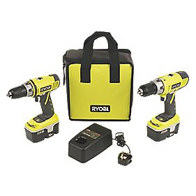 Ryobi One+ CDD1/CDD18022N 18V Hammer & Drill Driver Twin Pack